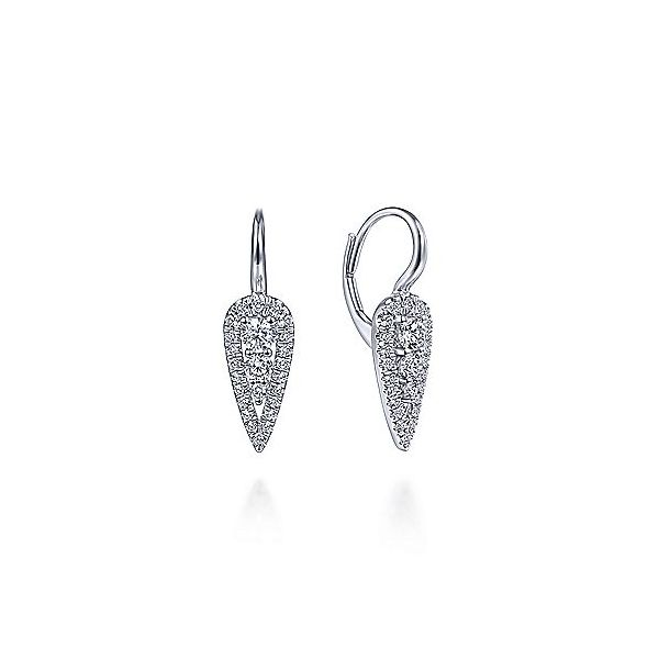 Gabriel & Co. White Gold Diamond Fashion Earrings SVS Fine Jewelry Oceanside, NY