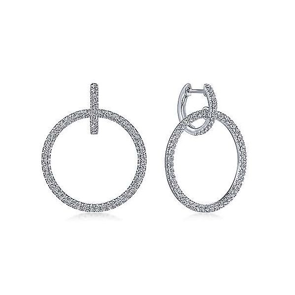 Gabriel & Co. Lusso 14K White Gold Diamond Earrings SVS Fine Jewelry Oceanside, NY