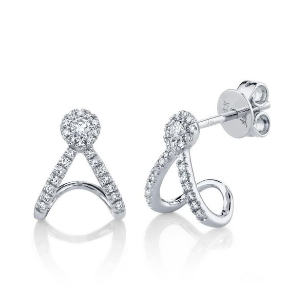 Shy Creation 14K White Gold And Diamond Earrings SVS Fine Jewelry Oceanside, NY