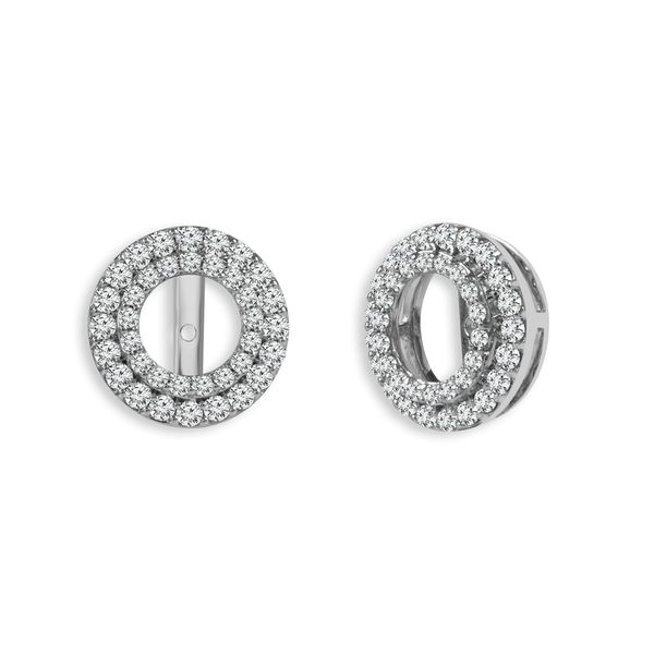 Double Halo Diamond Earring Jackets, .50ctw Image 2 SVS Fine Jewelry Oceanside, NY