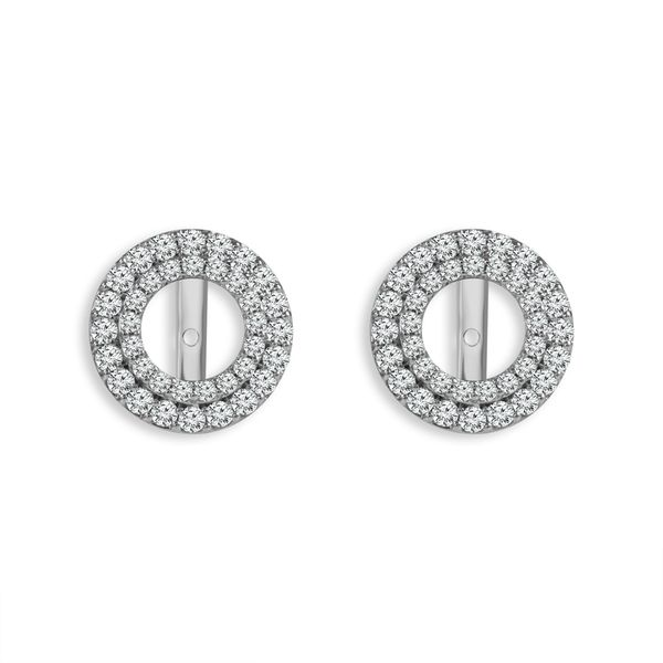 Double Halo Diamond Earring Jackets, .50ctw SVS Fine Jewelry Oceanside, NY