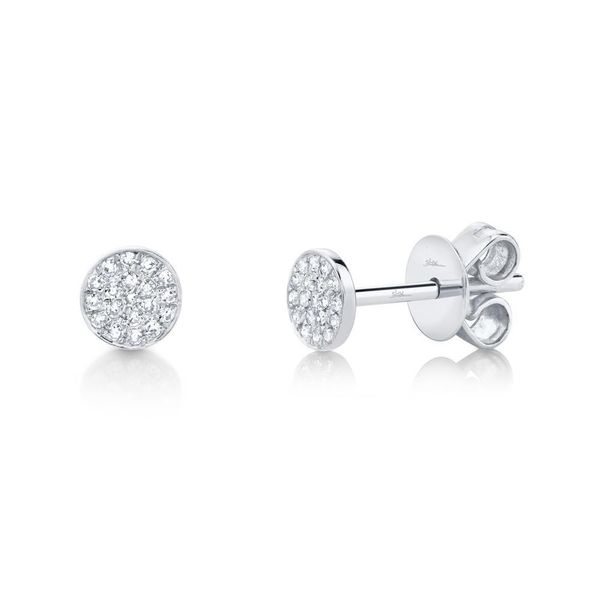 Shy Creation Diamond Circle Stud Earrings SVS Fine Jewelry Oceanside, NY