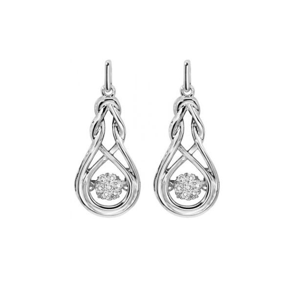 Diamond Rhythm of Love Anniversary Dangle Earrings SVS Fine Jewelry Oceanside, NY