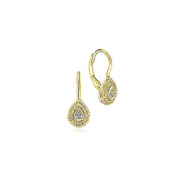 Gabriel & Co. Hampton 14K Yellow Gold Fashion Earrings SVS Fine Jewelry Oceanside, NY