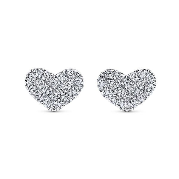 Gabriel & Co. Classic 14K White Gold Diamond Earrings SVS Fine Jewelry Oceanside, NY