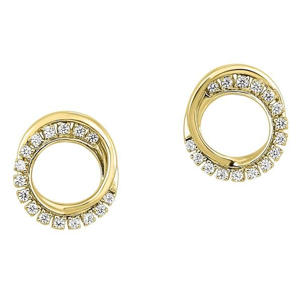 Diamond Double Eternity Circle Stud Earrings SVS Fine Jewelry Oceanside, NY