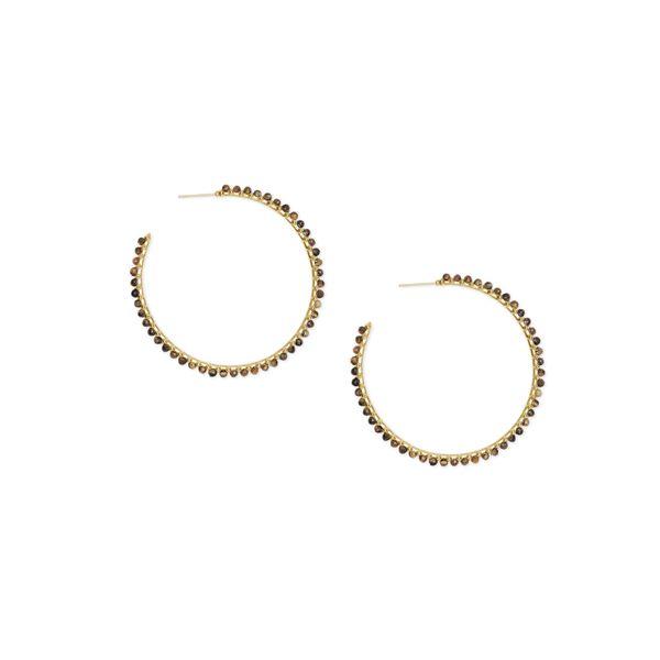 4e01f1c1b 4217717223-Kendra Scott-Birdie Gold Hoop Earrings In Brown Tigers ...