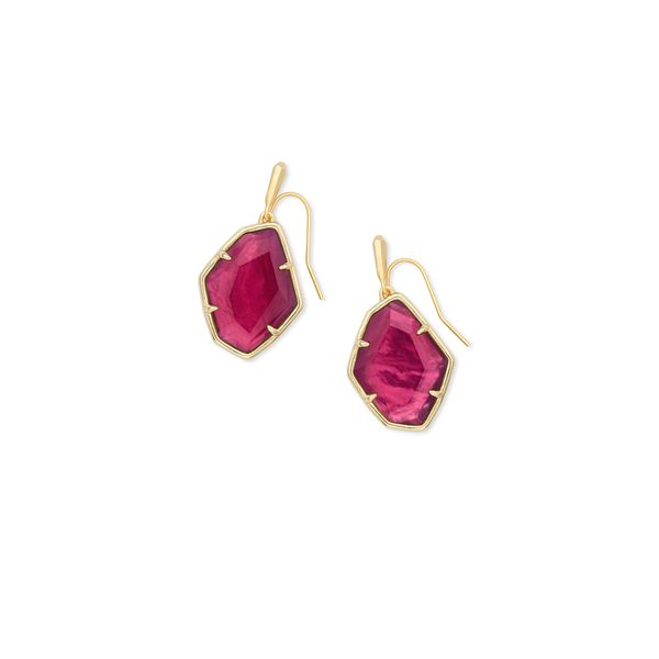 ad8513e13e6de Kendra Scott Dax Gold Drop Earrings Berry Illusion