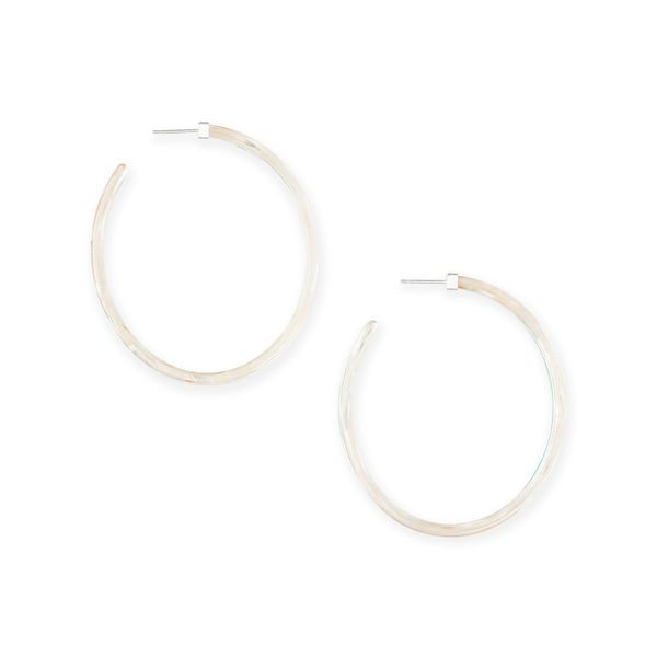 Kendra Scott Kash Hoop Earrings In Iridescent Acetate Image 2  ,