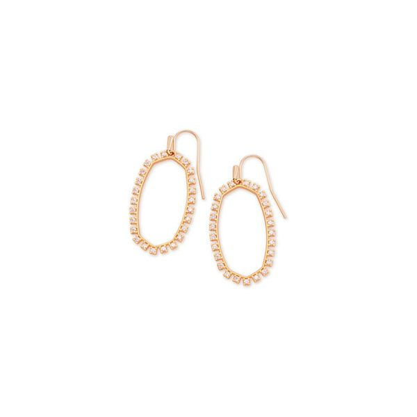 Kendra Scott Elle Rose Gold Open Frame Earrings SVS Fine Jewelry Oceanside, NY