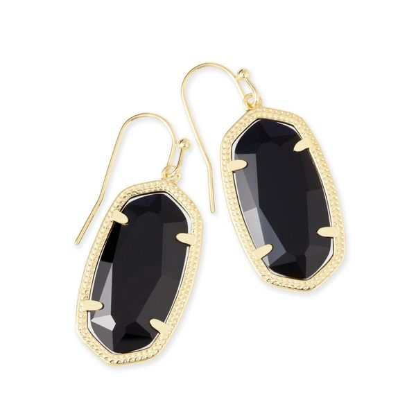 Kendra Scott Dani Gold Earrings In Black SVS Fine Jewelry Oceanside, NY