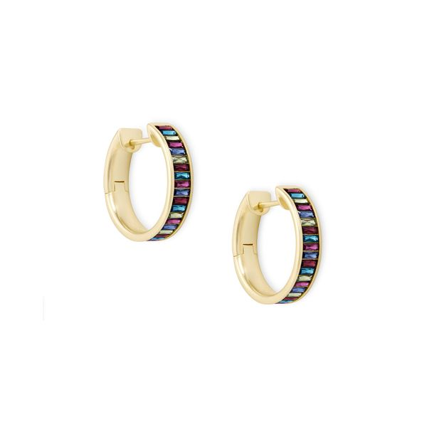 Kendra Scott Jack Gold Hoop Earrings In Jewel Tone SVS Fine Jewelry Oceanside, NY