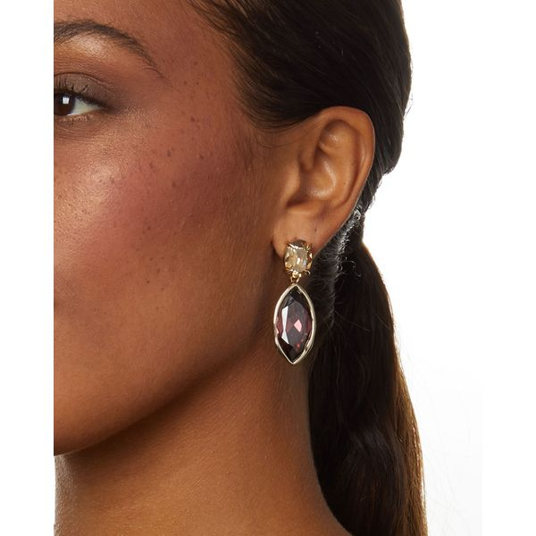Alexis Bittar Navette Crystal Drop Post Earrings Image 2 SVS Fine Jewelry Oceanside, NY