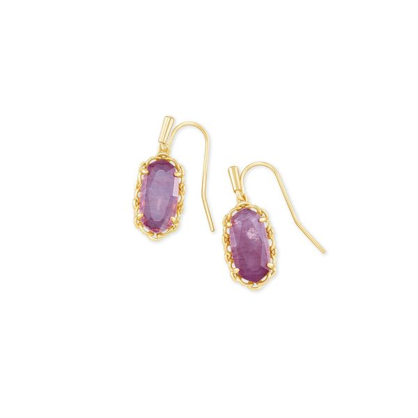 Kendra Scott Macramé Lee Gold & Purple Mica Earrings SVS Fine Jewelry Oceanside, NY