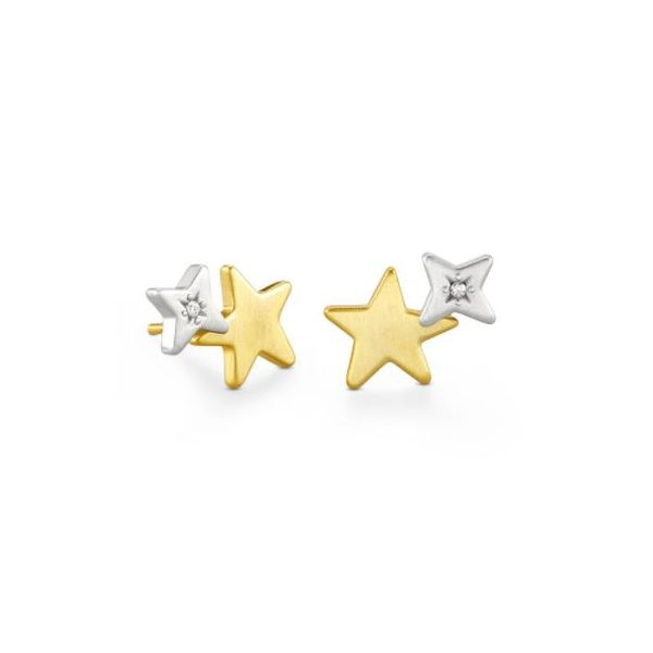 Kendra Scott Jae Star Ear Climber Earrings In Mixed Metal SVS Fine Jewelry Oceanside, NY