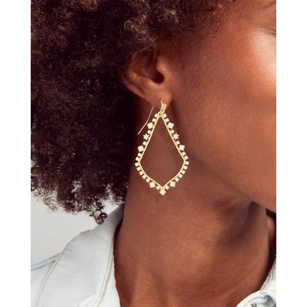 Kendra Scott Sophee Silver Crystal Drop Earrings Image 2 SVS Fine Jewelry Oceanside, NY