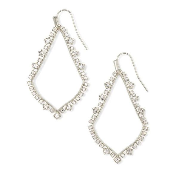 Kendra Scott Sophee Silver Crystal Drop Earrings SVS Fine Jewelry Oceanside, NY