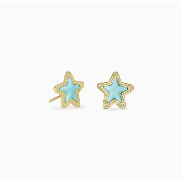 Kendra Scott Jae Gold Star Stud Earrings SVS Fine Jewelry Oceanside, NY