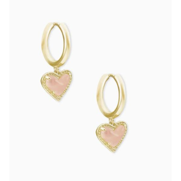 Kendra Scott Ari Gold Heart Huggie Earrings SVS Fine Jewelry Oceanside, NY