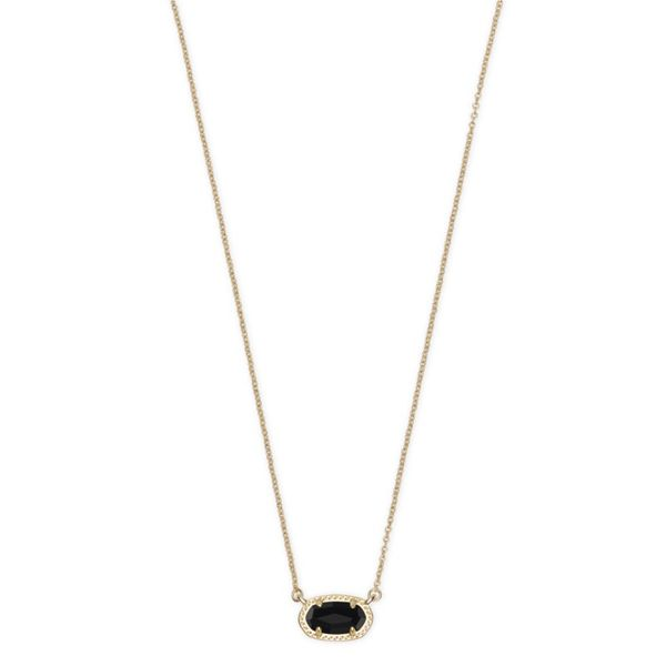 30305935f 4217717052 Kendra Scott Ember Gold Pendant Necklace In Black Opaque