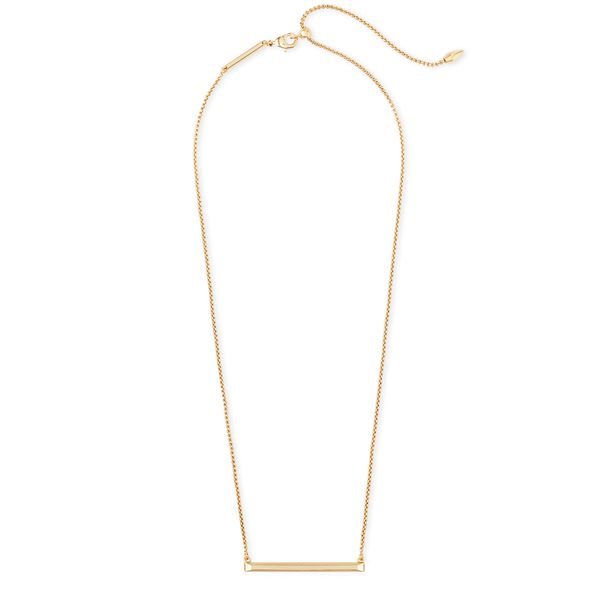 Kendra Scott Kelsey Pendant Necklace In Gold Image 2  ,