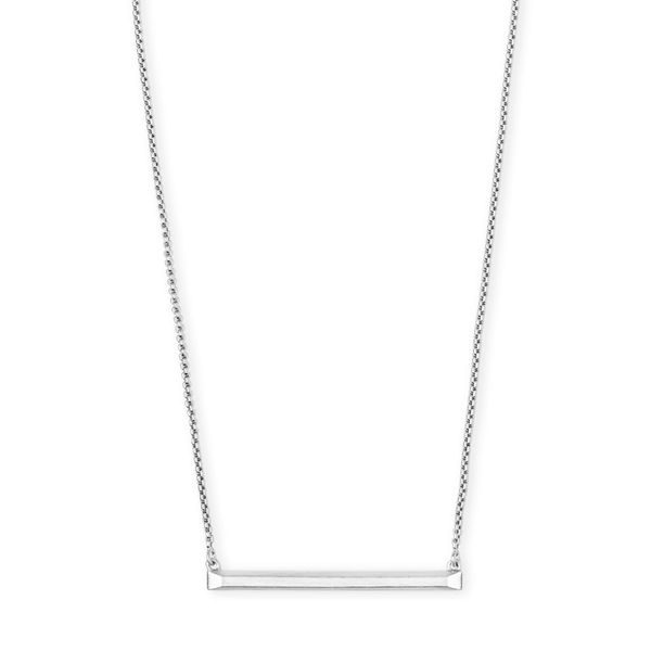 Kendra Scott Kelsey Pendant Necklace In Bright Silver SVS Fine Jewelry Oceanside, NY