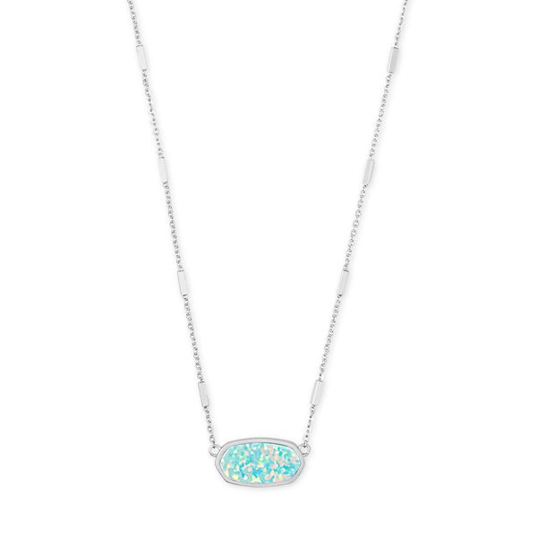 Kendra Scott Miley Bright Silver Pendant Necklace SVS Fine Jewelry Oceanside, NY
