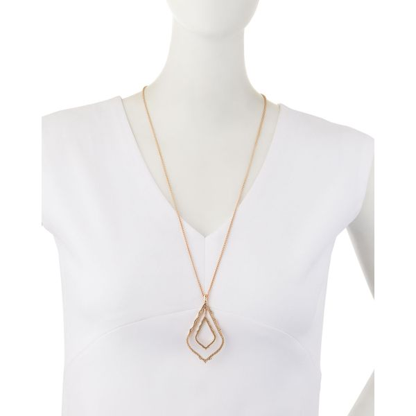Kendra Scott Simon Rose Gold Necklace Image 3 SVS Fine Jewelry Oceanside, NY