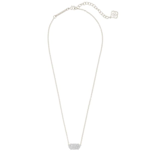 Kendra Scott Ever Silver Pendant Necklace Image 2 SVS Fine Jewelry Oceanside, NY