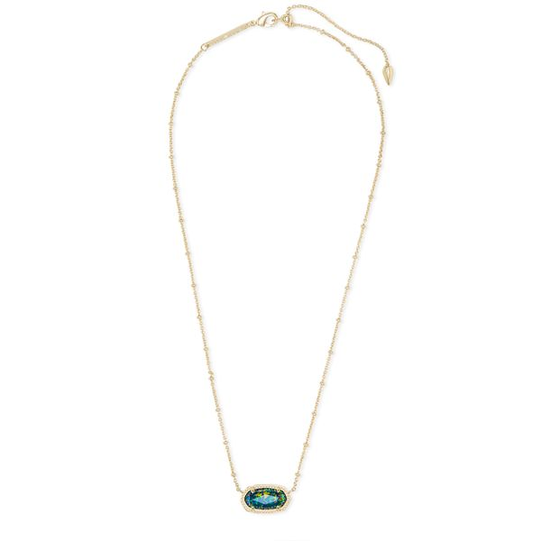Kendra Scott Elisa Gold Satellite Pendant Necklace Image 2 SVS Fine Jewelry Oceanside, NY