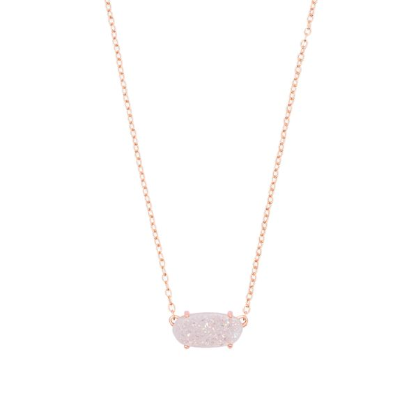 Kendra Scott Ever Rose Gold Pendant Necklace SVS Fine Jewelry Oceanside, NY