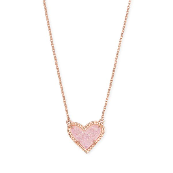 Kendra Scott Ari Rose Gold Heart Short Pendant Necklace SVS Fine Jewelry Oceanside, NY
