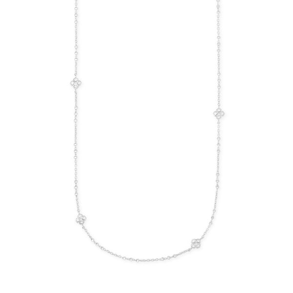 Kendra Scott Rue Silver Long Strand Necklace SVS Fine Jewelry Oceanside, NY