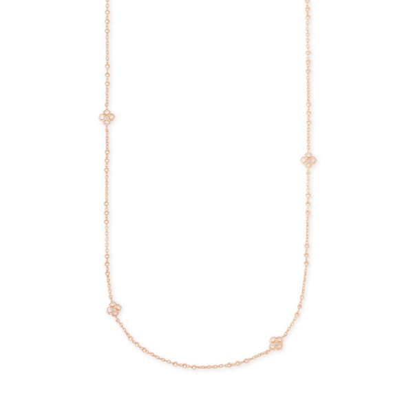 Kendra Scott Rue Rose Gold Long Strand Necklace SVS Fine Jewelry Oceanside, NY