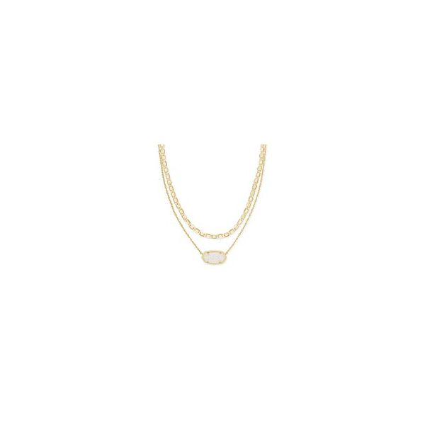 Kendra Scott Elisa Gold Multi Strand Necklace SVS Fine Jewelry Oceanside, NY