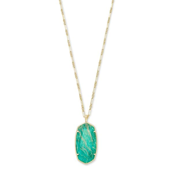 Kendra Scott Faceted Reid Gold Long Pendant Necklace SVS Fine Jewelry Oceanside, NY