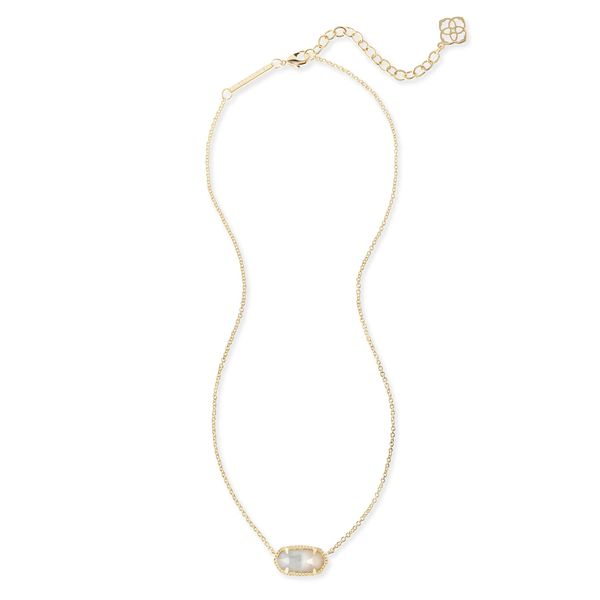 Kendra Scott Elisa Gold Pendant Necklace in Ivory Pearl Image 2 SVS Fine Jewelry Oceanside, NY