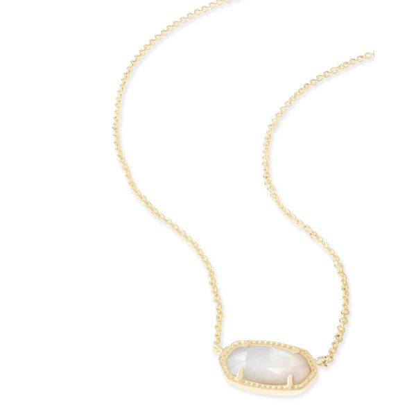 Kendra Scott Elisa Gold Pendant Necklace in Ivory Pearl SVS Fine Jewelry Oceanside, NY