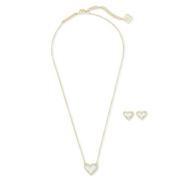 Kendra Scott Gold Ari Necklace and Earrings Gift Set SVS Fine Jewelry Oceanside, NY