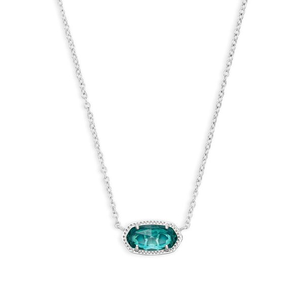 Kendra Scott Elisa Silver Pendant Necklace in London Blue SVS Fine Jewelry Oceanside, NY