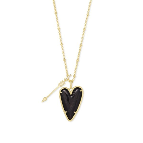 Kendra Scott Ansley Gold Heart Long Pendant Necklace SVS Fine Jewelry Oceanside, NY