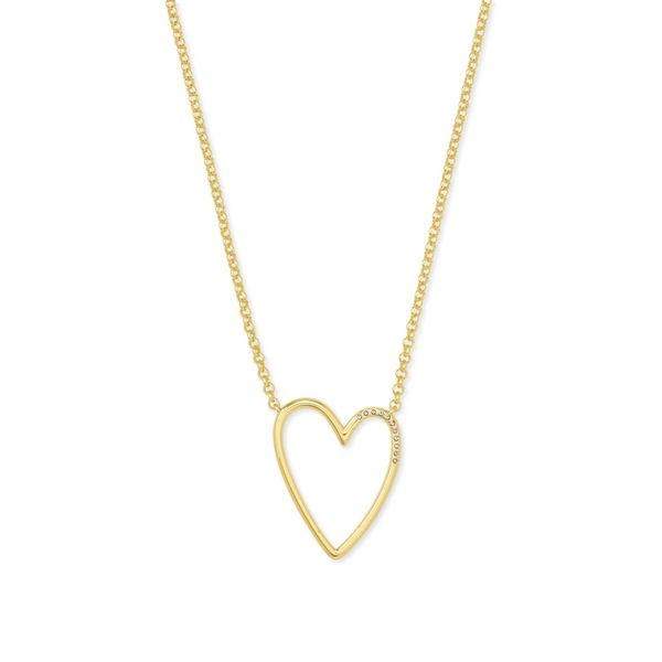 Kendra Scott Ansley Gold Heart Pendant Necklace SVS Fine Jewelry Oceanside, NY