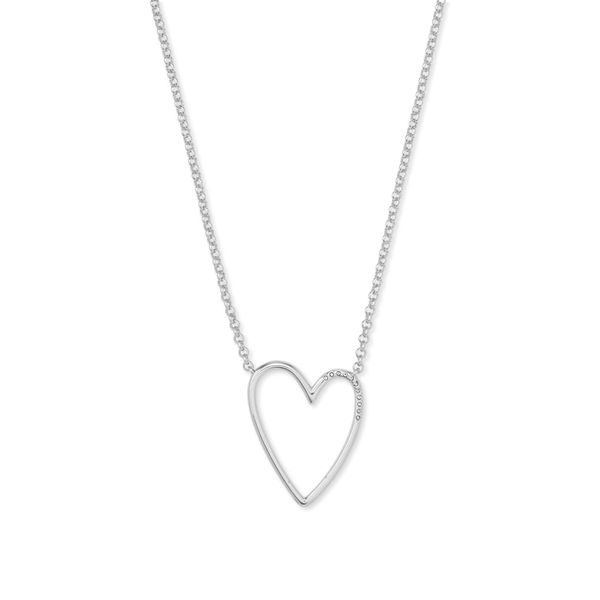 Kendra Scott Ansley Silver Heart Pendant Necklace SVS Fine Jewelry Oceanside, NY
