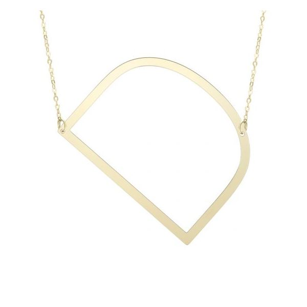 14K Yellow Gold Polished Initial D Necklace SVS Fine Jewelry Oceanside, NY