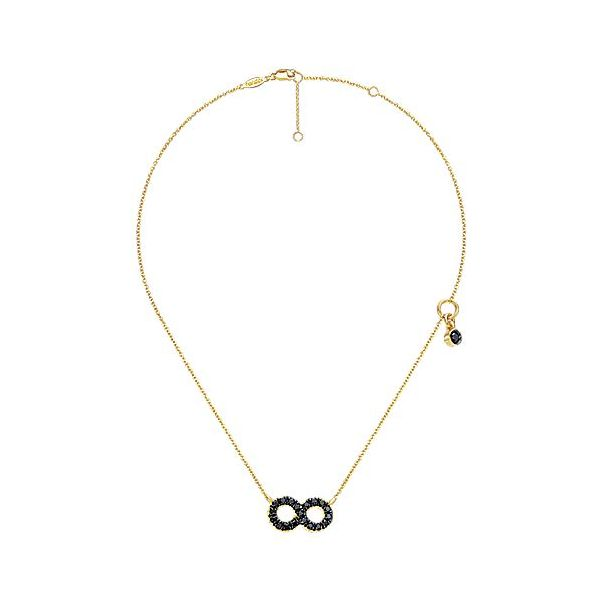 Gabriel & Co. 14K Yellow Gold & Black Diamond Necklace Image 2  ,