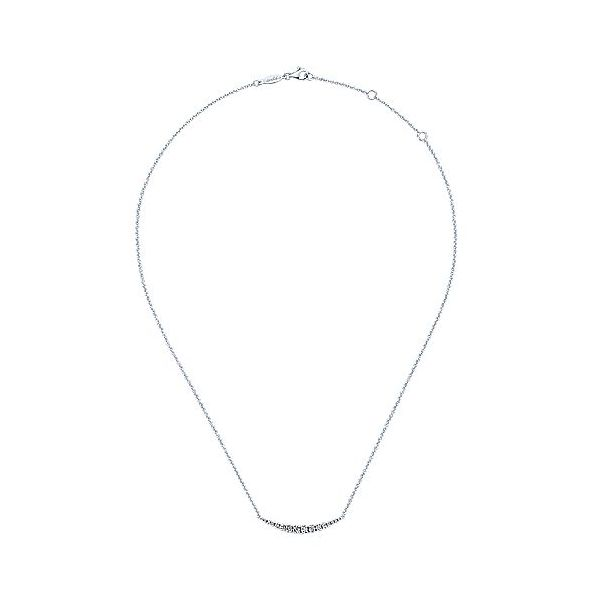 Gabriel & Co. Lusso 14K white gold Diamond Necklace Image 2  ,