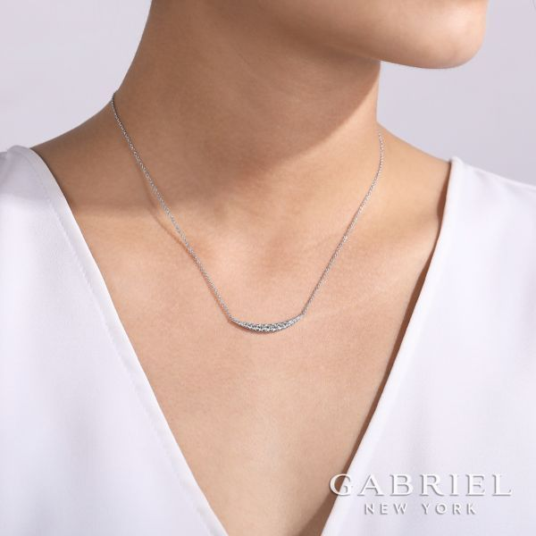 Gabriel & Co. Lusso 14K white gold Diamond Necklace Image 3  ,
