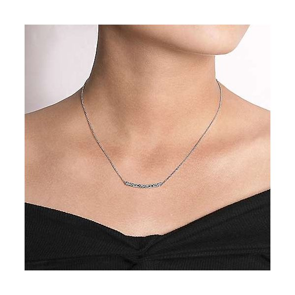 Gabriel & Co. Lusso 14K White Gold Fashion Necklace Image 2 SVS Fine Jewelry Oceanside, NY