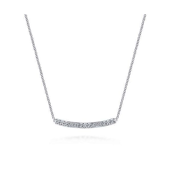 Gabriel & Co. Lusso 14K White Gold Fashion Necklace SVS Fine Jewelry Oceanside, NY