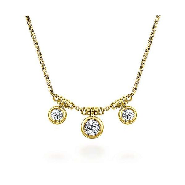 Gabriel & Co. Lusso 14K Yellow Gold Diamond Necklace SVS Fine Jewelry Oceanside, NY